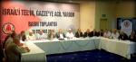 İDSB İsrail'i Tel'in Gazze'ye destek basın açıklaması