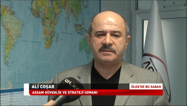 IASSAM Strateji ve Güvenlik Uzmanı Ali COŞAR  Ülke TV Muhabiri Ebru KAÇAR'ın 19 Mart 2018 tarihinde yaptığı, Haber kuşağında yayınlanan Röportaj