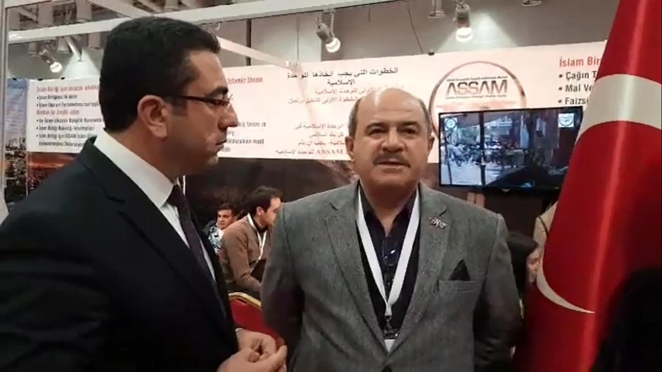 Iمقابلة مع الأمين العام لـASSAM علي جوشار المحترم في المعرض الدولي الثالث لإتحاد منظمات المجتمع المدني.