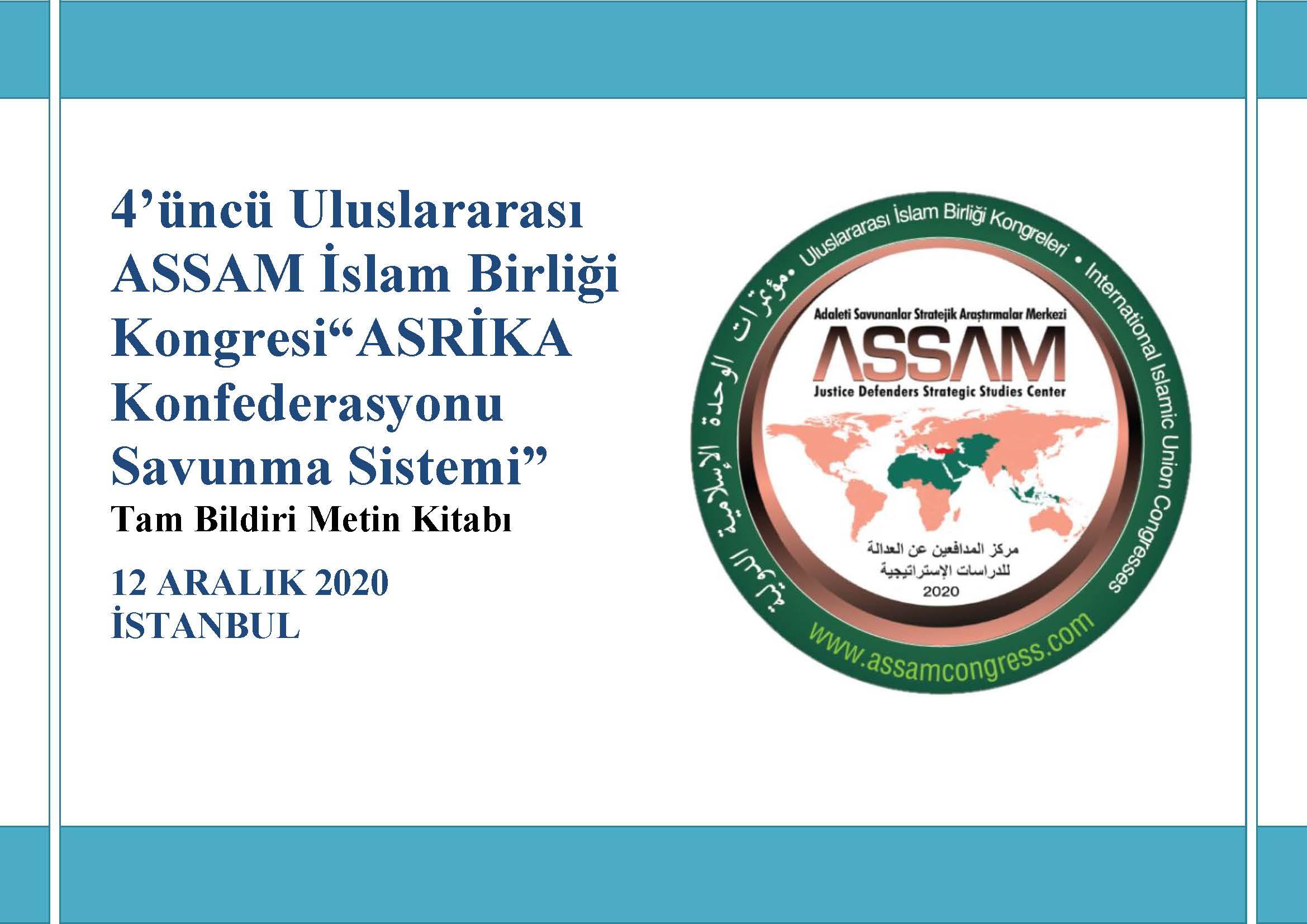 4. Uluslararası ASSAM İslam Birliği Kongresi Bildiri Kitapçığı Yayınlandı