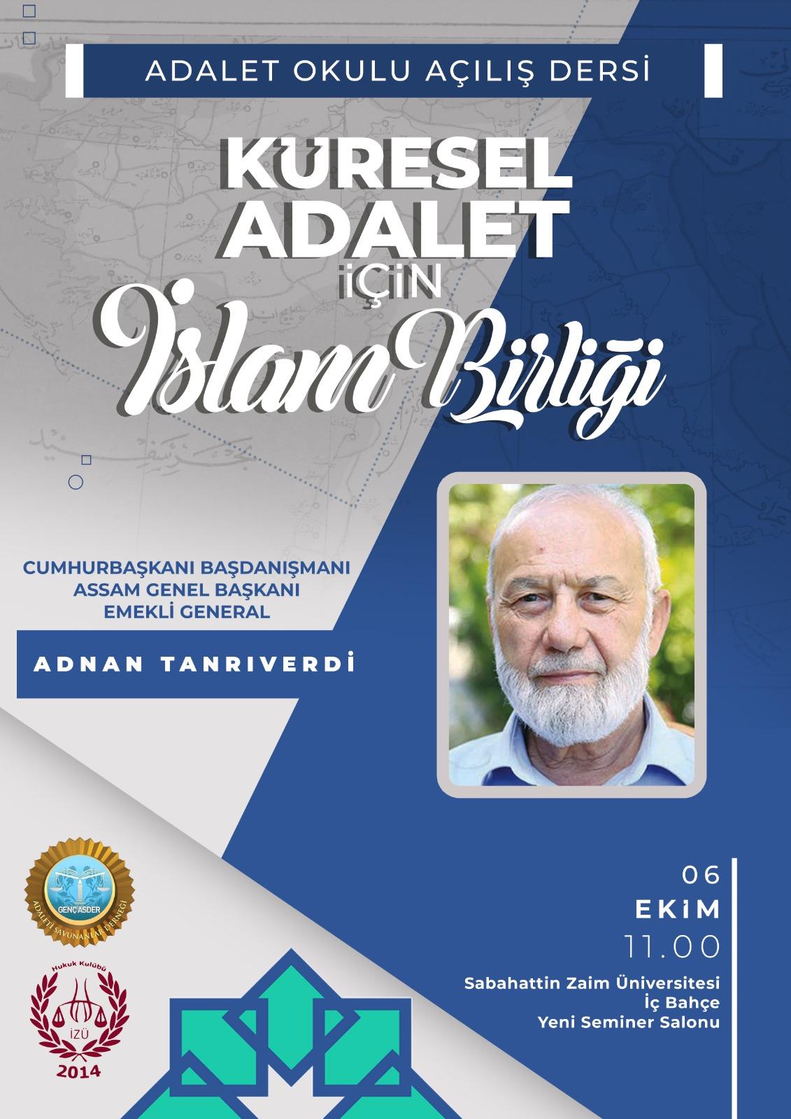 Adnan Tanrıverdi'nin Sabahattin Zaim Üniversitesindeki Adalet Dersi