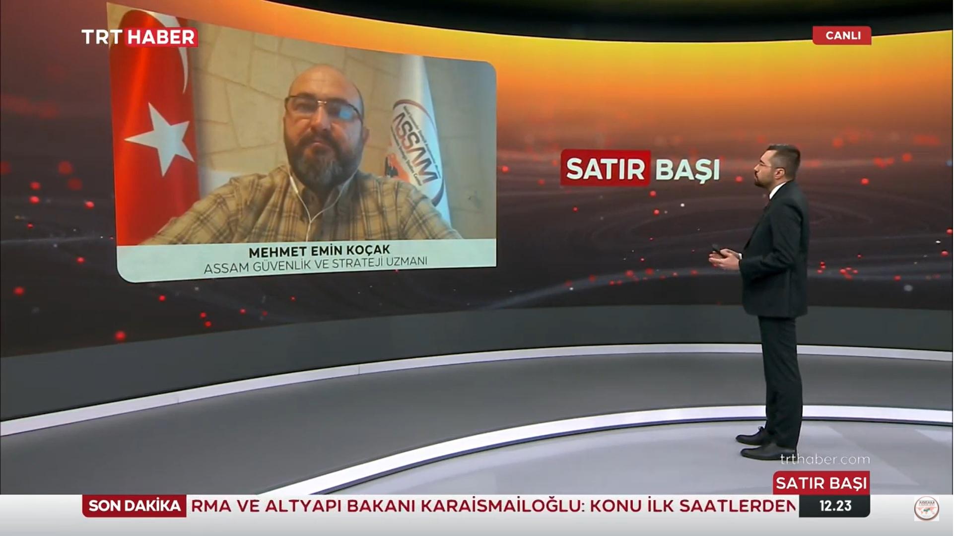 ASSAM Bşk. Yrd. Mehmet Emin KOÇAK TRT Haber-Satır Başı Programı