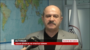 ASSAM Strategy and Security Specialist Ali COŞAR was interviewed by correspondent Ebru Kaçar from Ulke Tv. The interview featured on Haber Kuşağı(In The News) program on 19 March 2018.